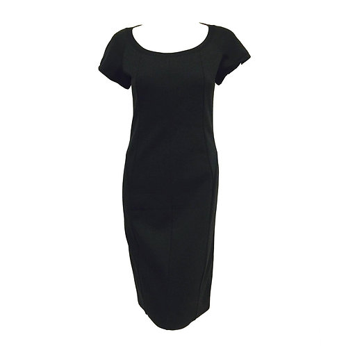 Prada Black Stretch Sheath With Short Sleeves