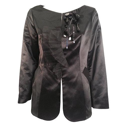 Black Christian Lacroix Satin Evening Jacket