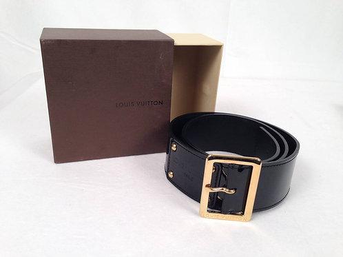 Louis Vuitton Black Patent Leather Belt