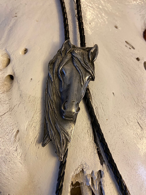 Pewter Horse Head Bolo Tie