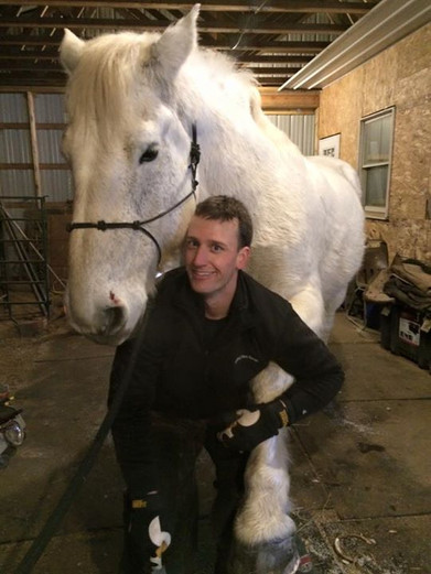 Thank you Justin Fry our horses hooves a