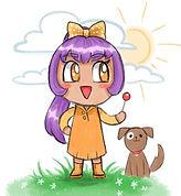 a chibi character and dog digitally made in MediBang Paint Pro