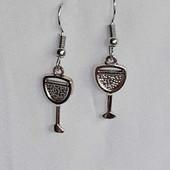 Wine glass earrings