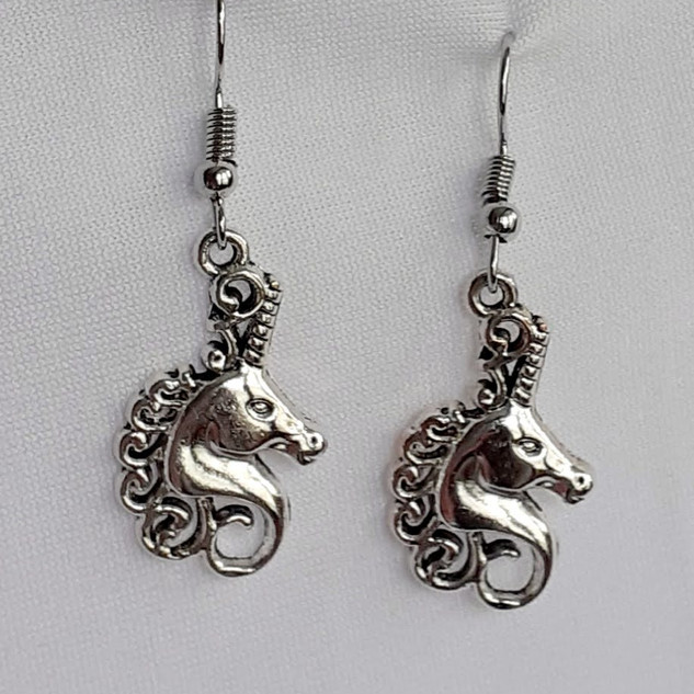 Unicorn Head Earrings