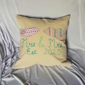Mrs & Mrs Celebration Cushion