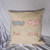 Mr & Mrs Celebration Cushion