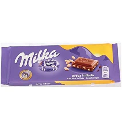 Milka cioccolato al latte con il riso soffiato