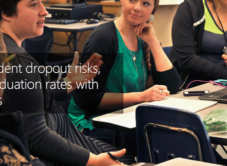 Predicting student dropout risks, increasing graduation rates with cloud analytics