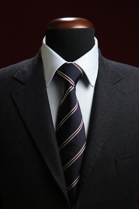Szycie na miarę, garnitur bespoke, tkanina granatowa flanela, wełna czesankowa 100,s - MR BADURA