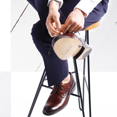 Buty Christopher Marthe, brązowe, szyte, dostępne w pracowni MR BADURA