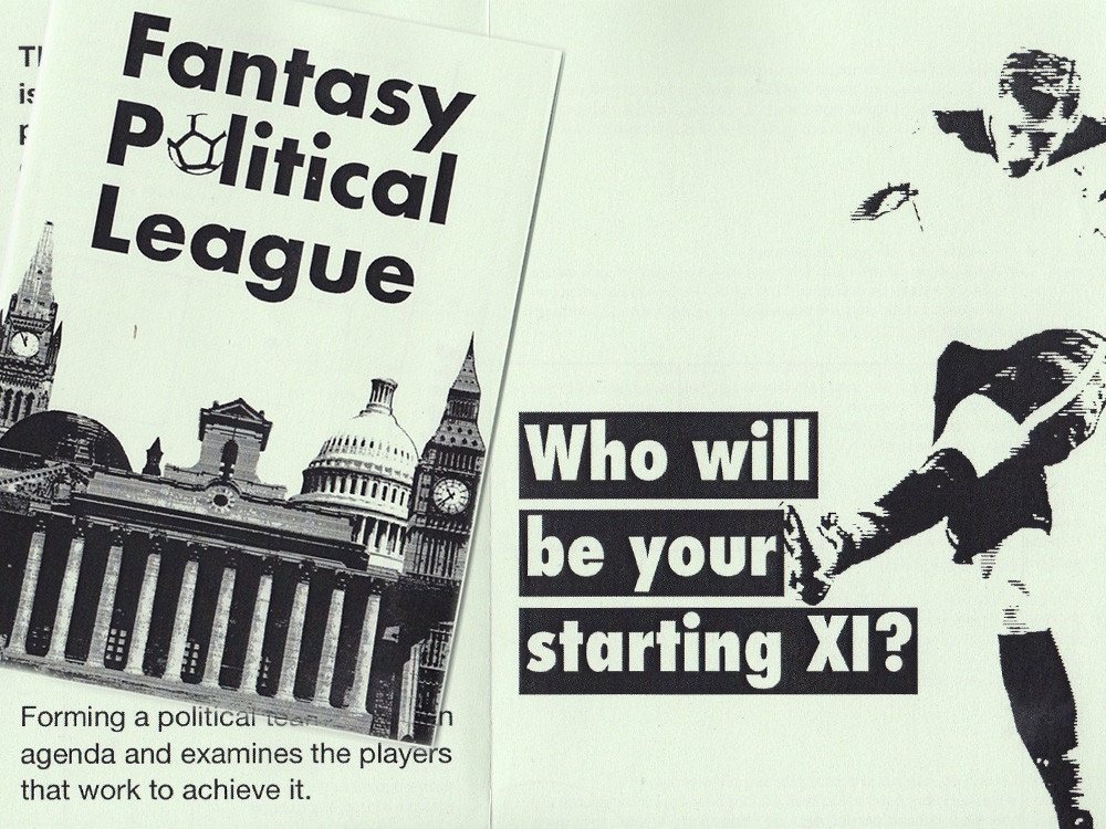 The Fantasy Political League pamphlet