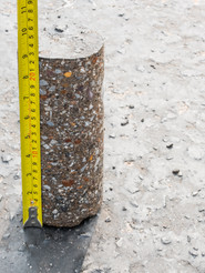 Testing for compaction using coring