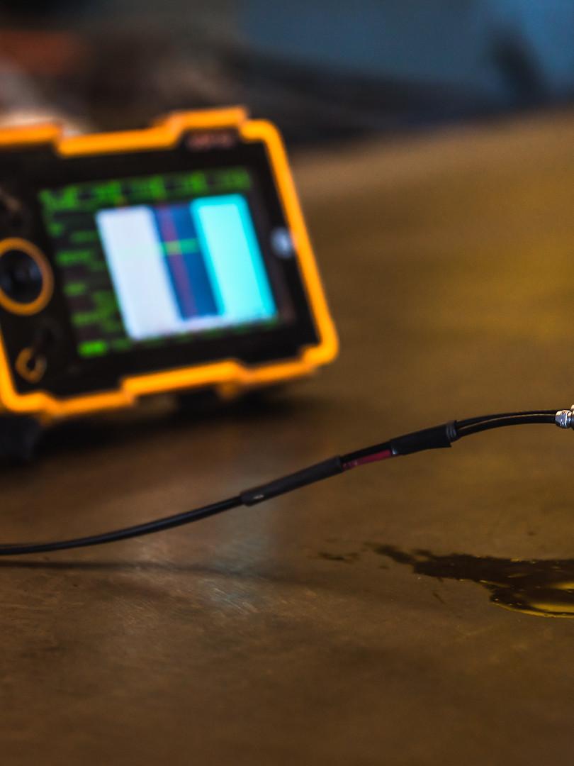 Ultrasonic Test on steel plate