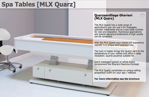 SPA Table MLX Quarz