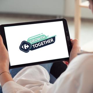 """Branding de l'événement Carrefour """"Growth Together"""""""