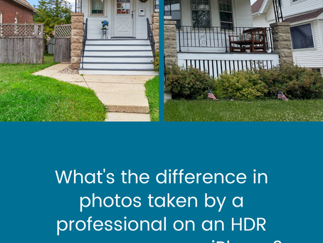 What's the difference in photos taken by a professional on an HDR camera versus an iPhone?