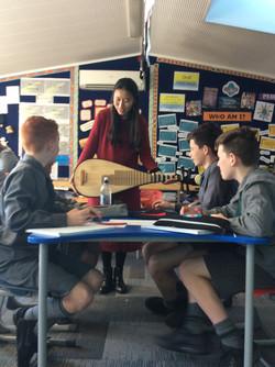Music workshop at Sacred  Heart