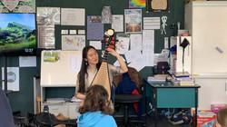 Music workshop at Te Horo school