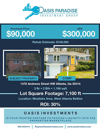 Oasis Paradise Investment Group Flyer (1
