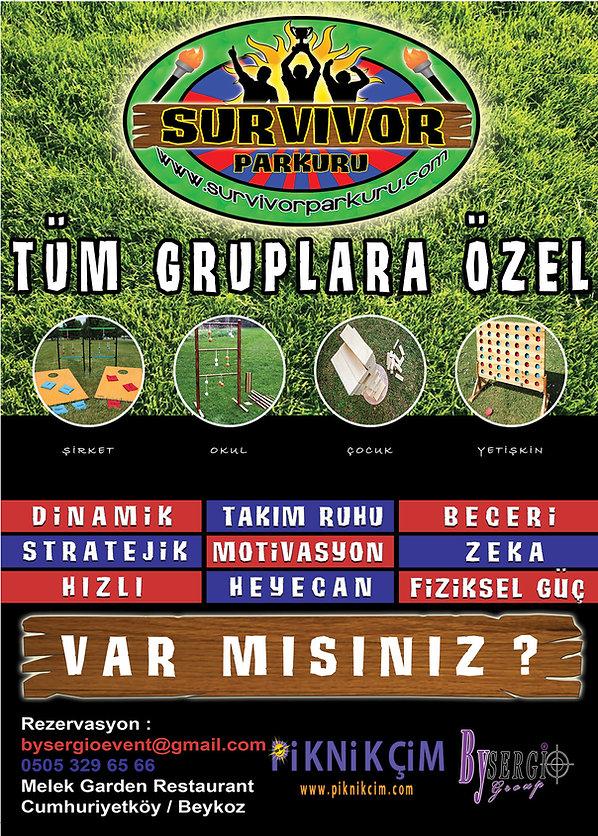 Survivor Parkuru İstanbul, Outdoor parkur, Takım Oyunları, Corparate games