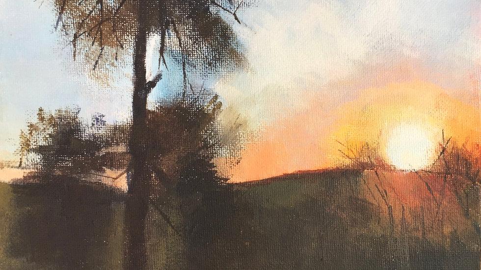 Sunrise over Caer Caradoc, Shropshire