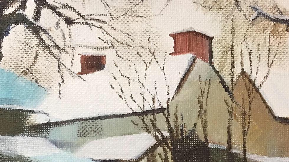 Welsh Farmhouse in Snow