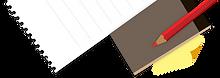 Pencil Paper Notebook Piano Student Cartoon