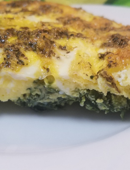 Crustless Spinach Feta Quiche