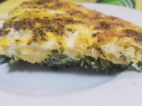 Crustless Spinach Feta Quiche