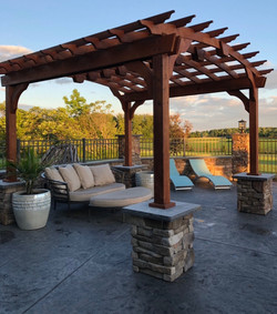 Pool and Patio with Stamped Floor