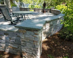 Natural Stone Sitting Wall