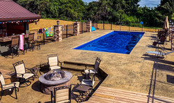 Stamped Pool Deck / Fire Pit