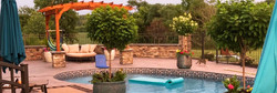 Outdoor Patio Stamped Concrete Pool