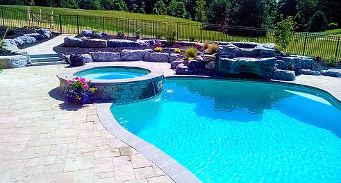 Natural stone hardscape in Victor, NY, p