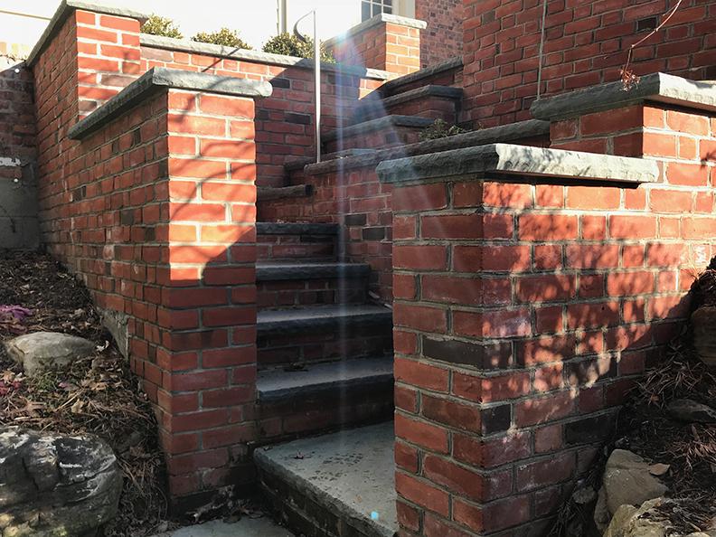 GM Brick Steps to Patio (gallery)