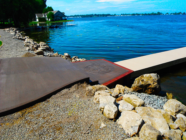 Concrete Walkway and Dock