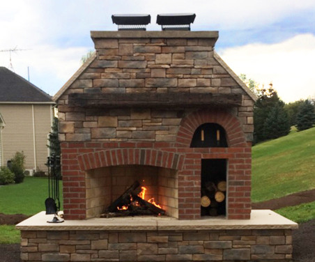 Outdoor Fire Feature - Oven and Fireplace