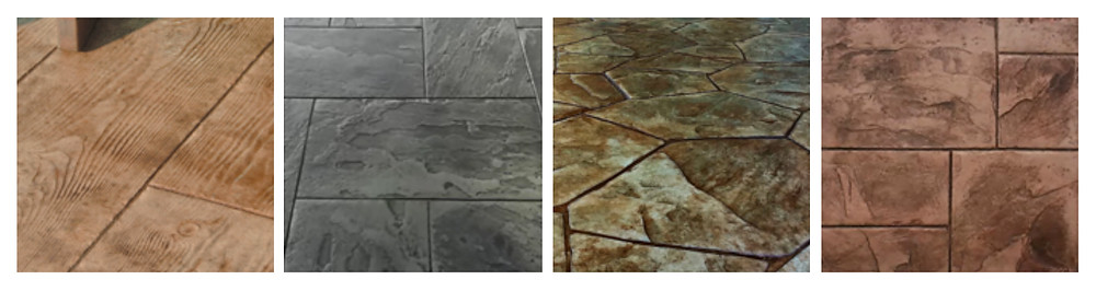 Stamped Concrete Patio Floor Patterns and Textures Examples