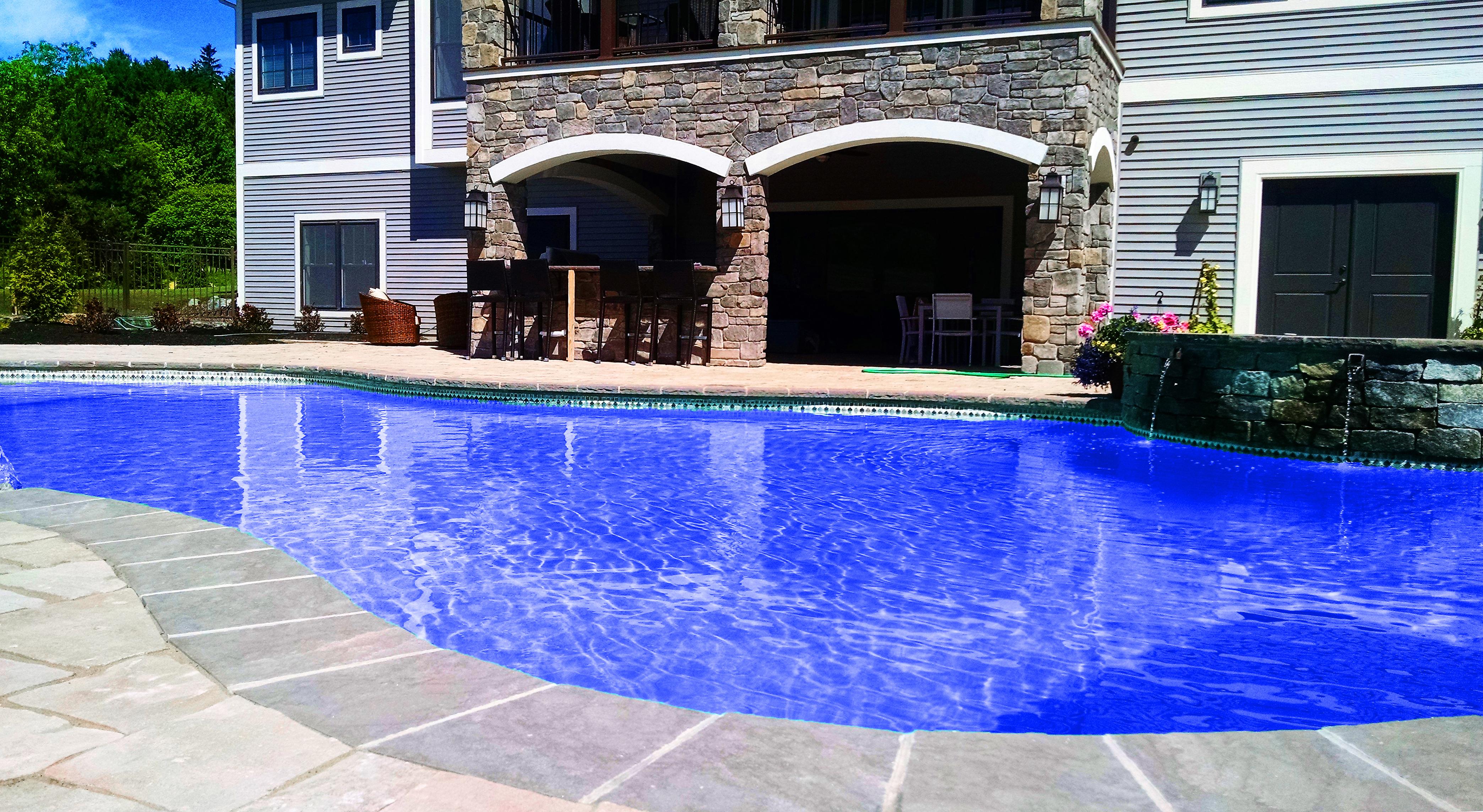 Stone Veneer Pool Area