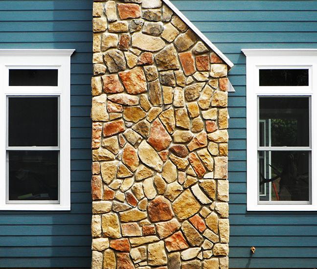 Stone Veneer Chimney
