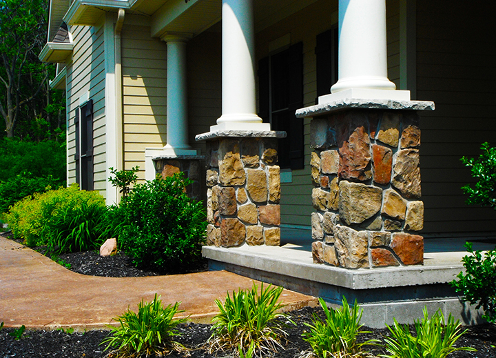 Stone Veneer Porch Piers