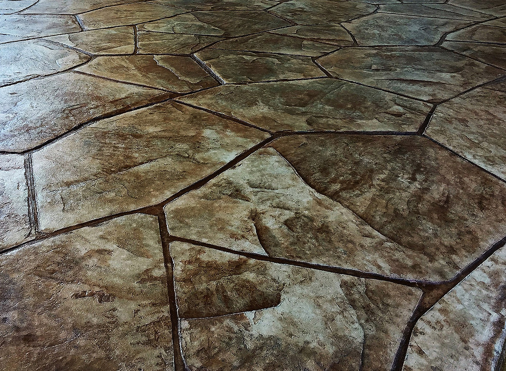 stamped concrete patio floor in Rochester ny