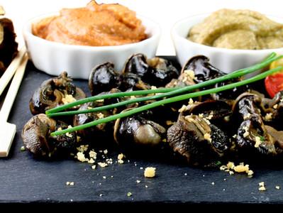 Escargots de Bourgogne en Pierrade bourguignonne de chez Maison Larzul