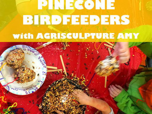 """PINECONE BIRDFEEDERS WITH AGRISCULPTURE AMY"" WORKSHOP @ NEWBURGH JCC"