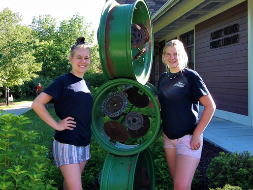 SCULPTURES + STORYTELLING :  EXHIBITION OF AGRISCULPTURE AT ALBERT WISNER PUBLIC LIBRARY