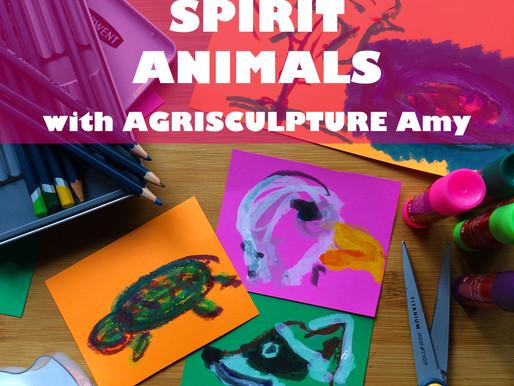 """""""SPIRIT ANIMALS WITH AGRISCULPTURE AMY"""" - WORKSHOP FOR JARRETT MARKEL CREATIVITY BOOTCAMP"""