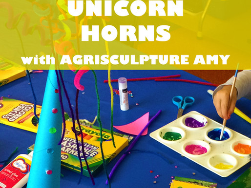 """UNICORN HORNS WITH AGRISCULPTURE AMY"" WORKSHOP @ NEWBURGH JCC"