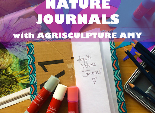 """NATURE JOURNALS WITH AGRISCULPTURE AMY"" - WORKSHOP FOR JARRETT MARKEL CREATIVITY BOOTCAMP"