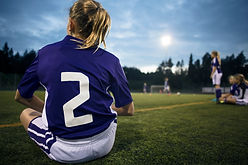 Rearview of a Girl Soccer Player