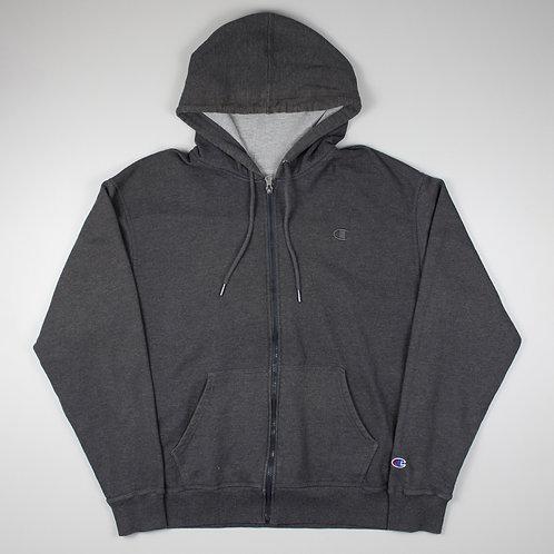 Champion Vintage Grey Zip Up Hoodie